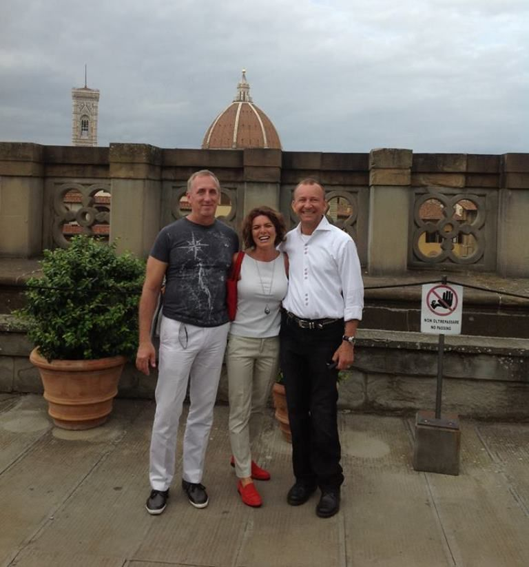 At the Uffizi's panoramic terrace