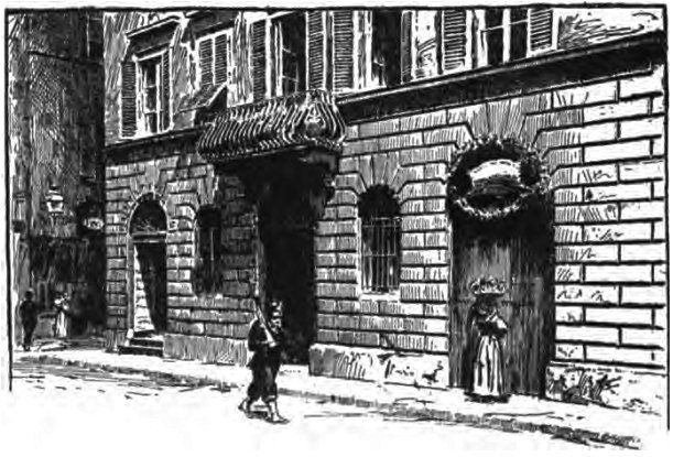 The Birthplace of Amerigo Vespucci in an ancient drawing