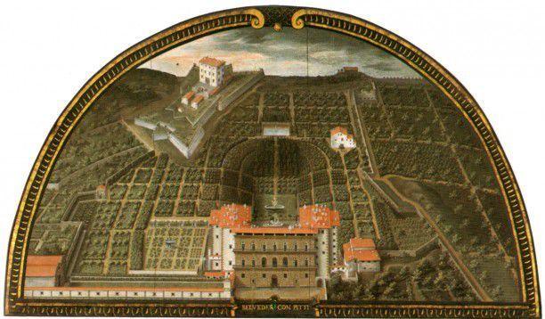 Palazzo Pitti and Boboli Gardens Lunette, 1599