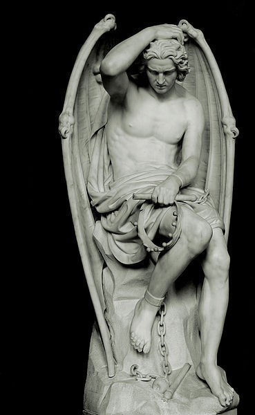 Lucifer as a defeated angel