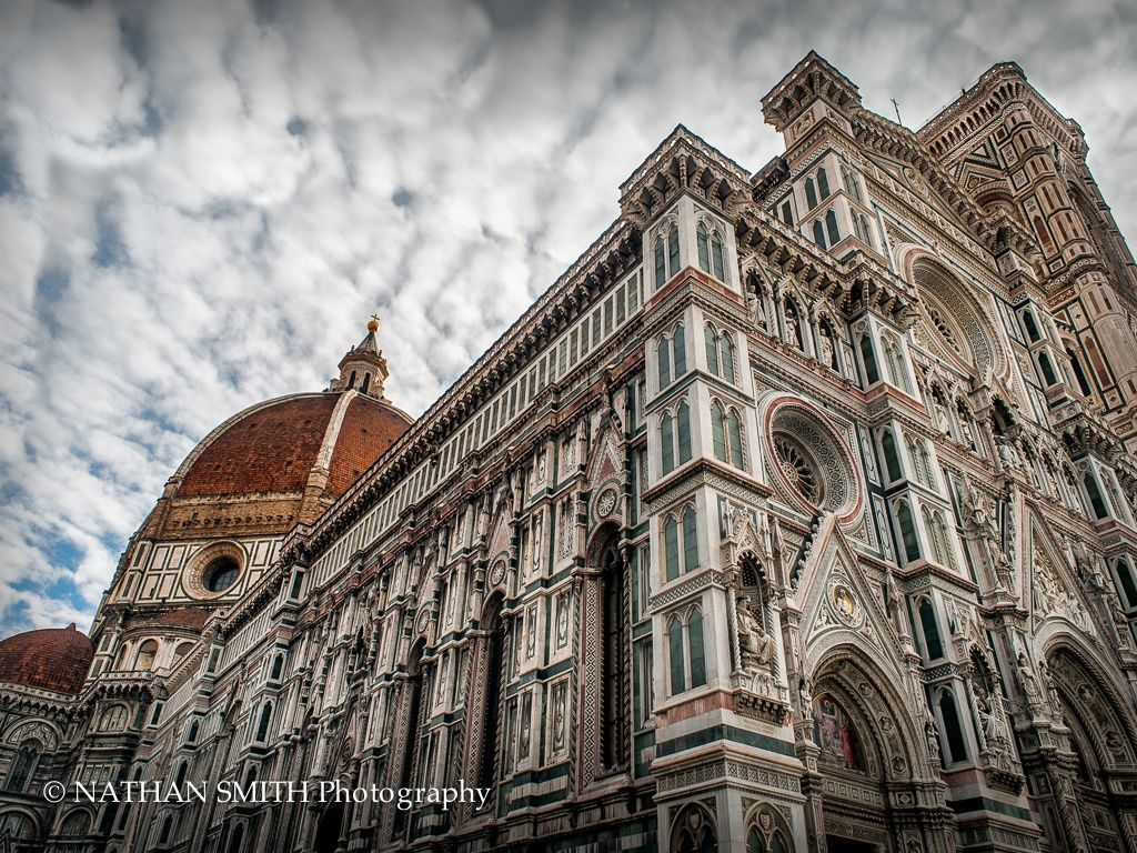 Florence Photo Tour - Duomo and Clouds by Nathan Smith