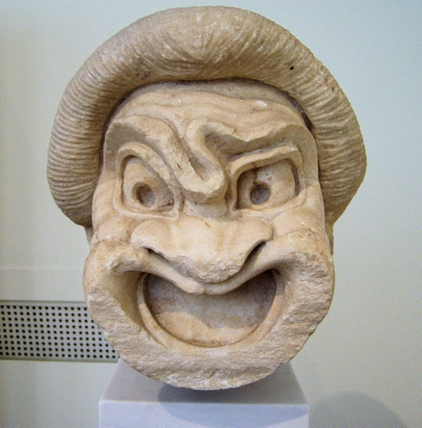 Sculpture of a theater mask dating from the Hellenistic period