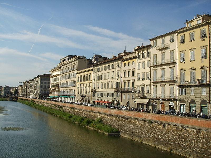 The Lungarno Vespucci, Florence