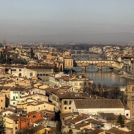 The Oltrarno district from Piazzale Michelangelo