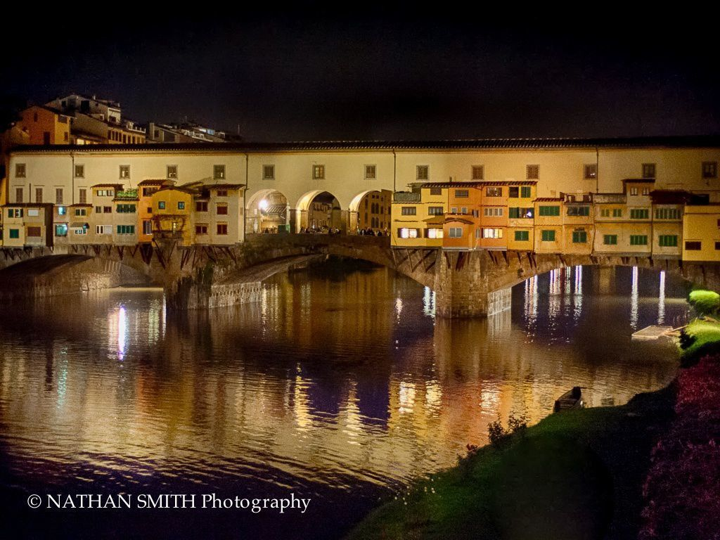 Florence Photo Tour - Ponte Vecchio by Night by Nathan Smith