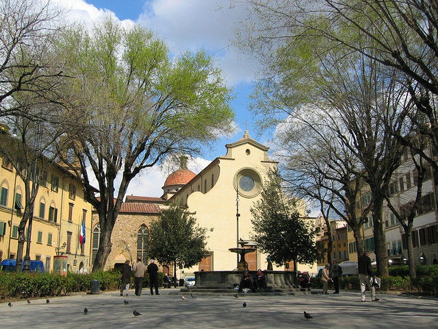 Santo Spirito square in the Oltrarno district