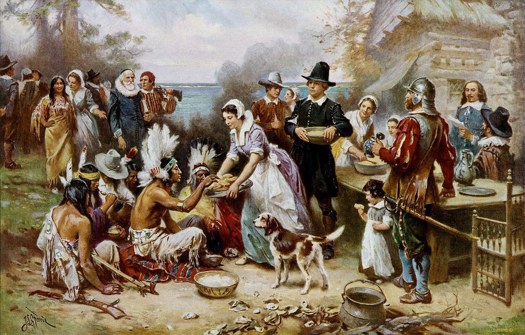 The origins of Thanksgiving feast according to the tradition