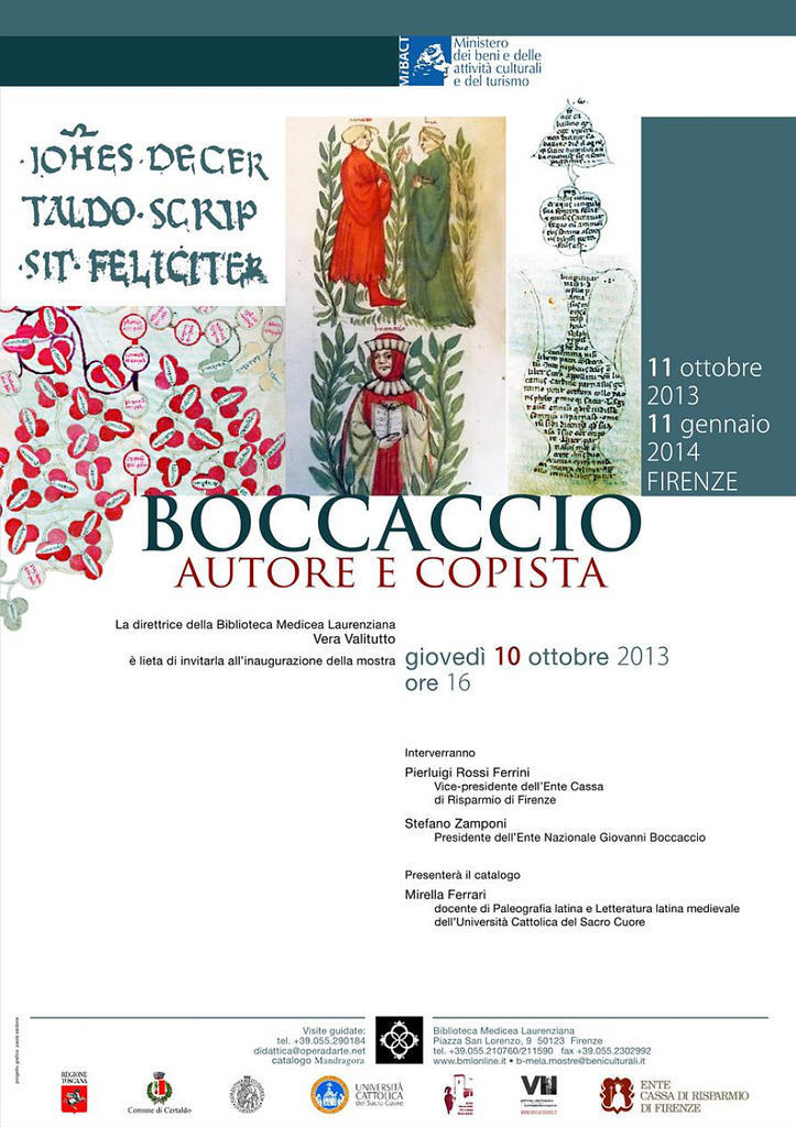 Poster of Boccaccio's Exhibition in Florence, Italy