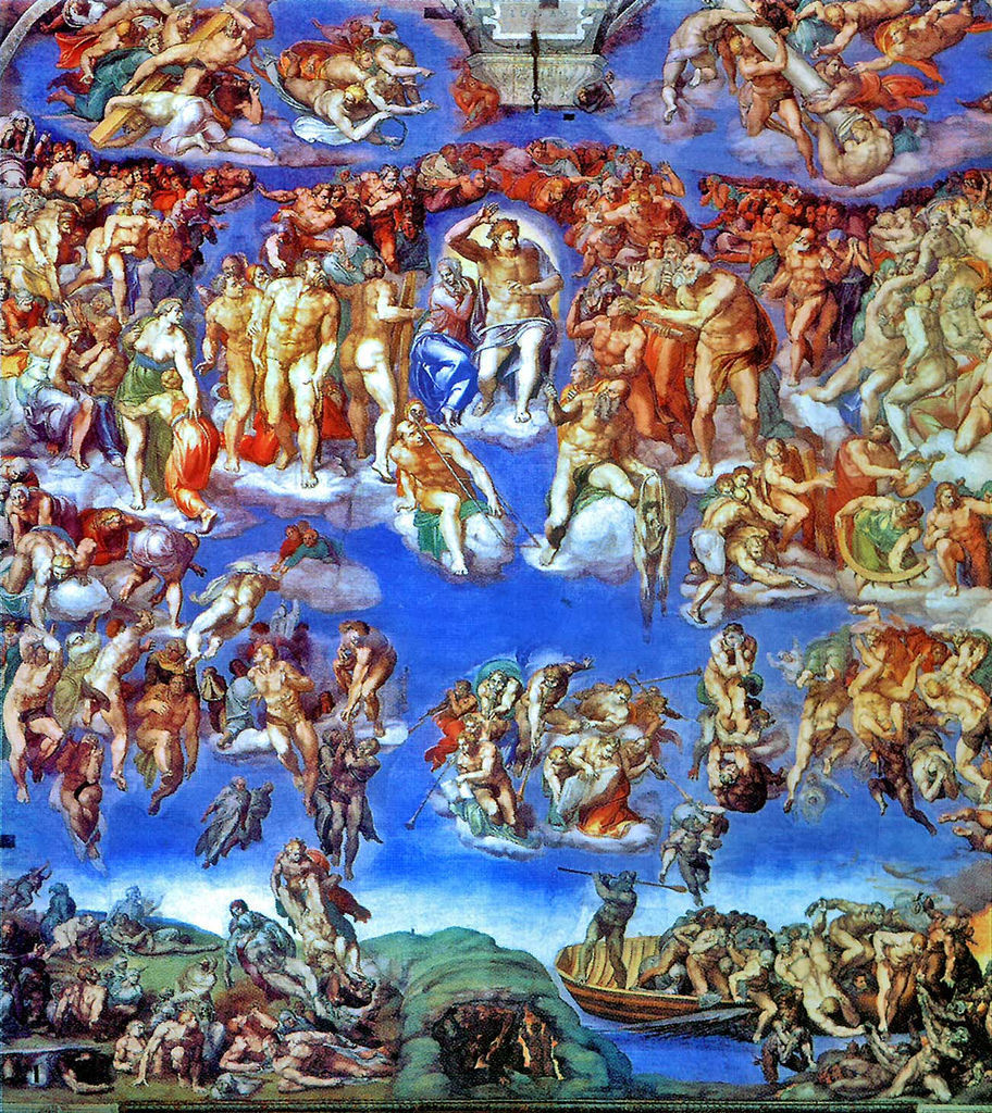 The Last Judgement by Michelangelo (Sistine Chapel, Rome)