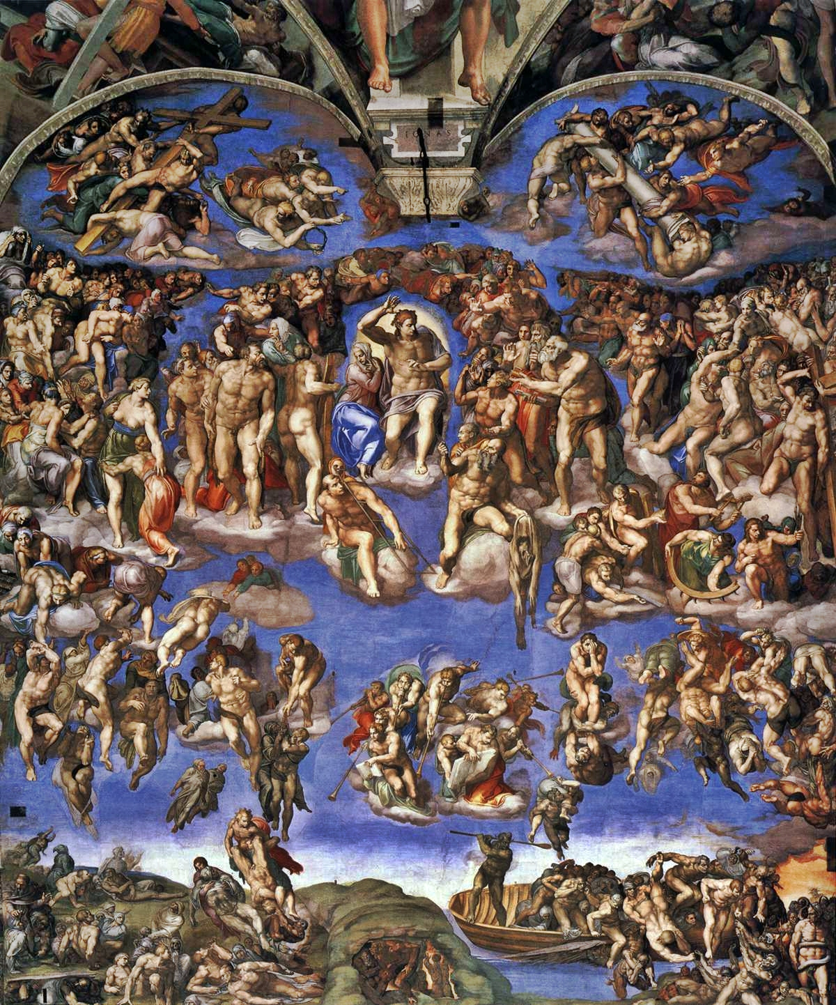 The Last Judgement by Michelangelo, Rome