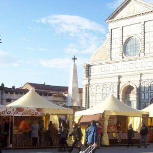 Chocolate Fair in Piazza Santa Maria Novella, Florence, Italy