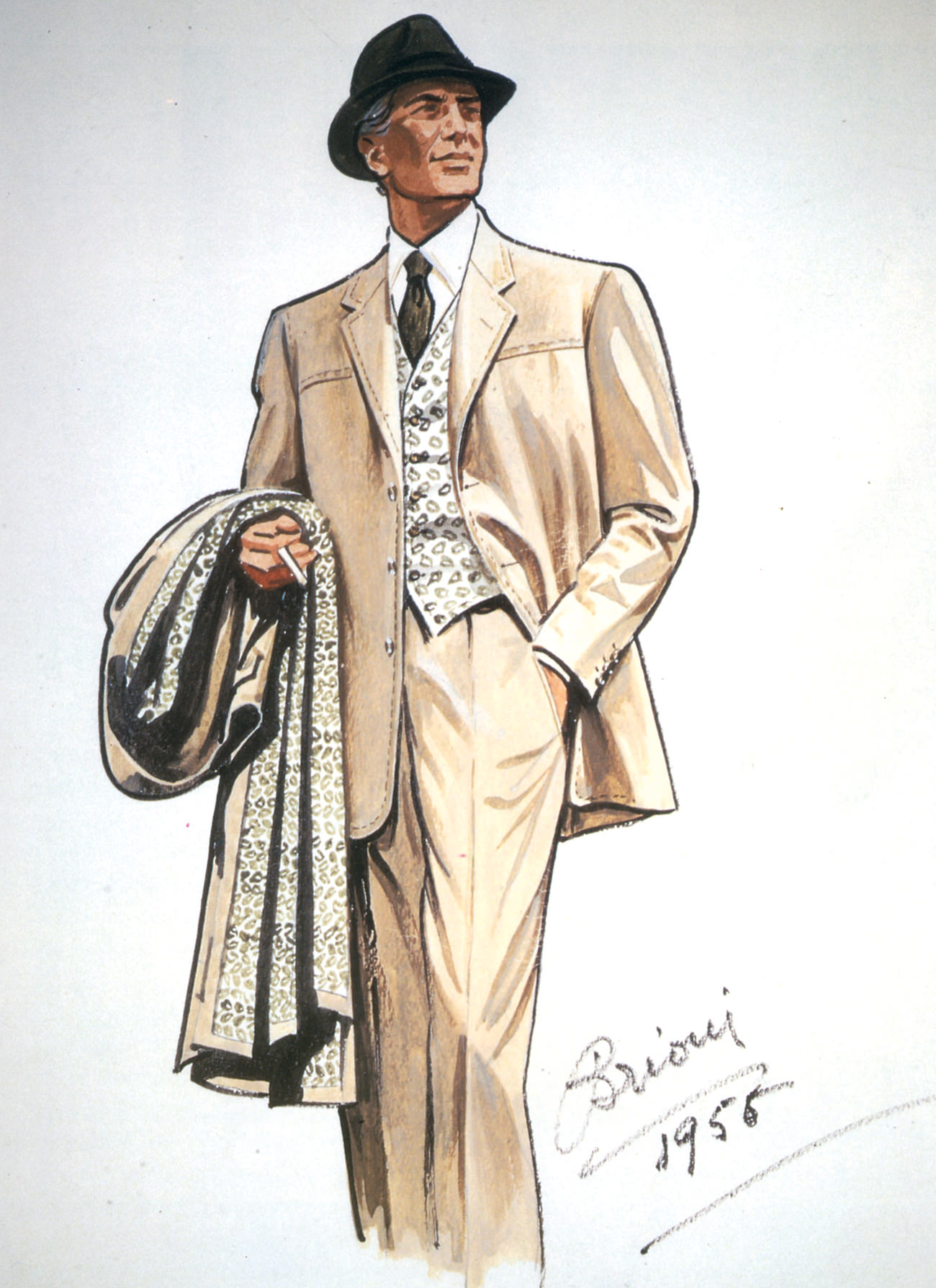 A sketch from Brioni Archives, Italy