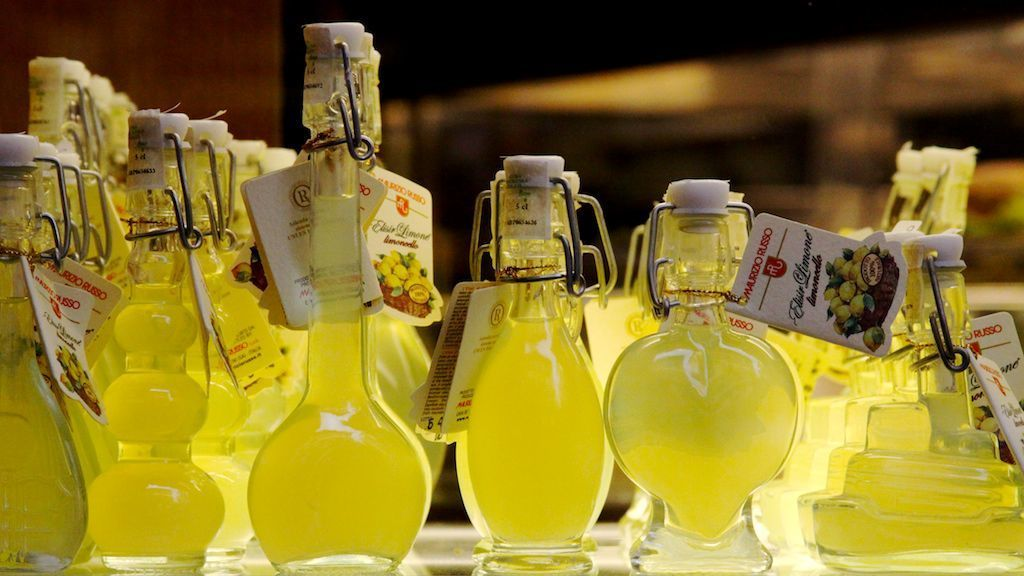 The Italian Liqueur Limoncello