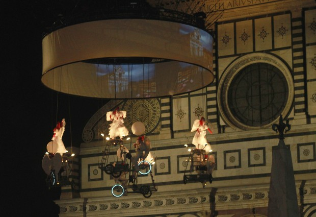 Performance during The White Night in Florence, Italy