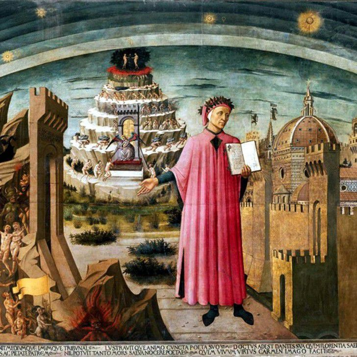 The Painting La Commedia illumina Firenze