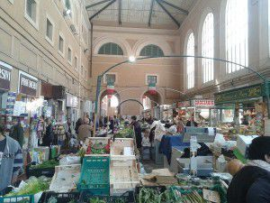 The big food market in Livorno