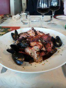 The caciucco, dish from Livorno