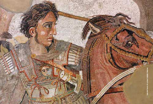 Detail- of-the Alexander- Mosaic- Alexander- the- Great -on- his- horse-by-Ruthven