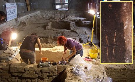 Archeological excavation under convent of Saint Orsula