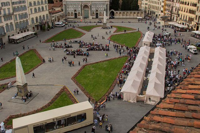 Ice cream festival day in Santa Maria Novella