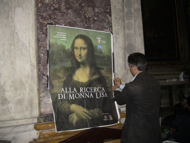 The poster with Mona Lisa