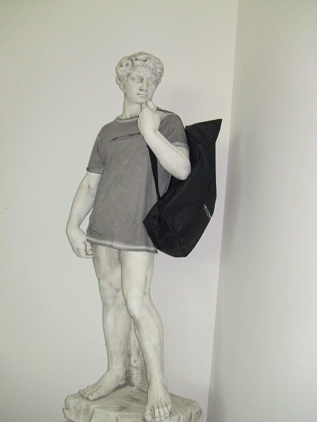 Copy of David dressed in t-shirt and backpack