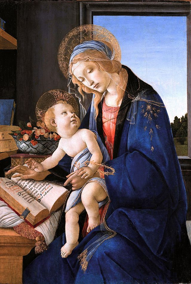 Madonna of the Book -by Sandro- Botticelli