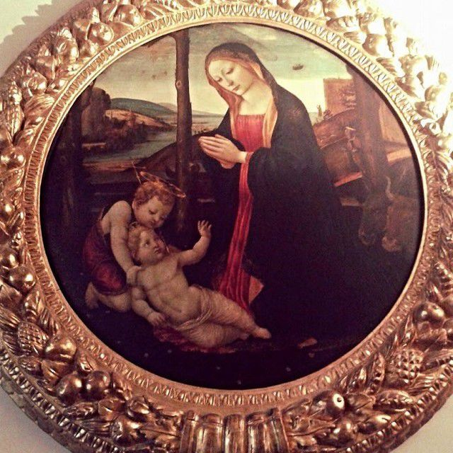 Maestro del tondo Miller-Nativity-Madonna of the Ufo in Hall of Ercules