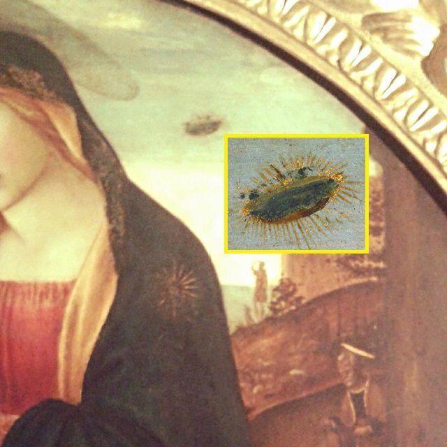 The Madonna of the UFO in Palazzo Vecchio
