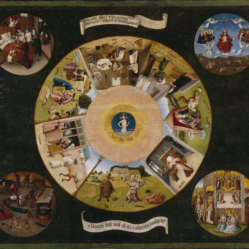 The Seven Deadly Sins by Hieronymus Bosch