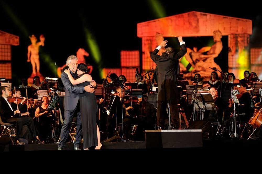 Andrea Bocelli performs at Teatro del Silenzio (Lajatico, Pisa)