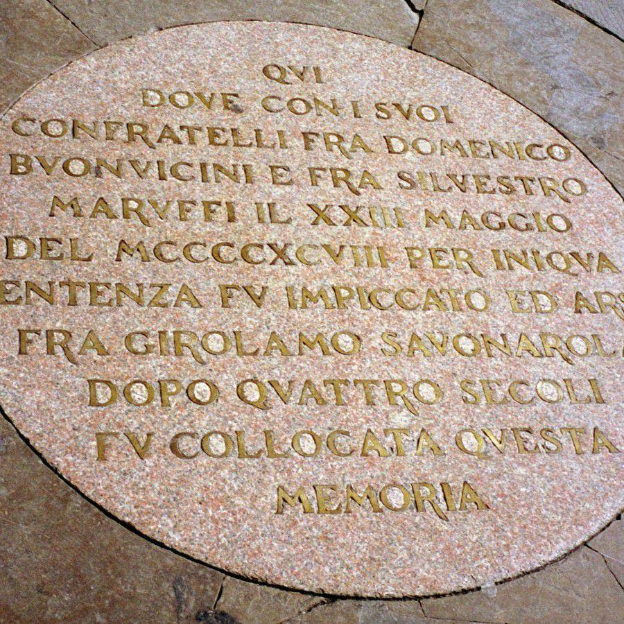 Savonarola Plaque by Greg O'Beirne CC BY-SA 3.0