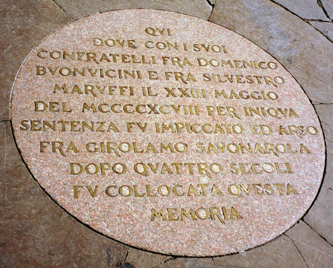 Savonarola Plaque by Greg O'Beirne CC BY-SA 3.0