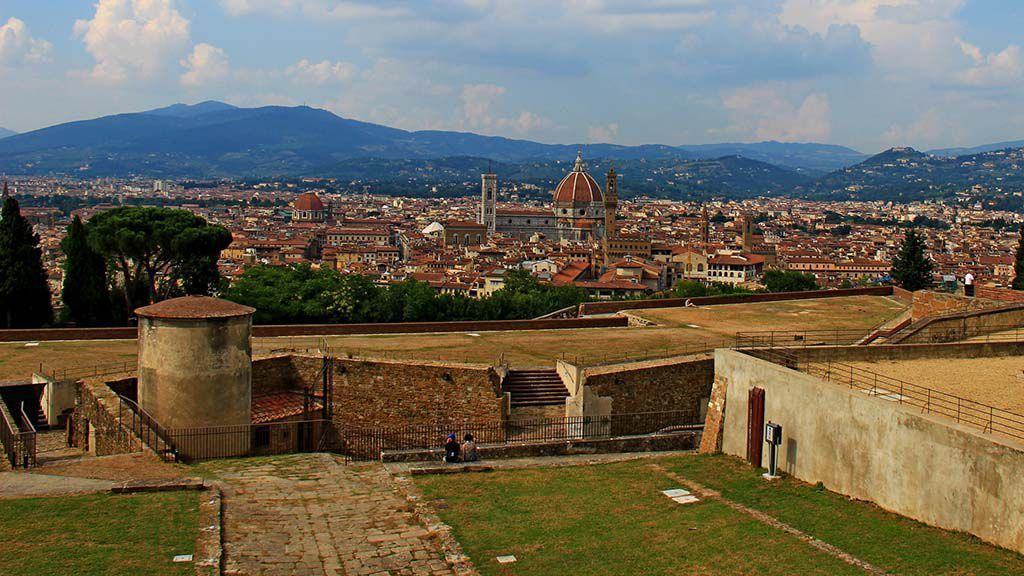 Fort Belvedere: the view on Florence