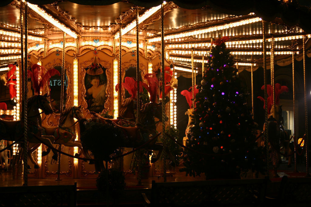Piazza Repubblica Carousel at Christmastime,Florence, Italy by Kari CC BY-NC 2.0
