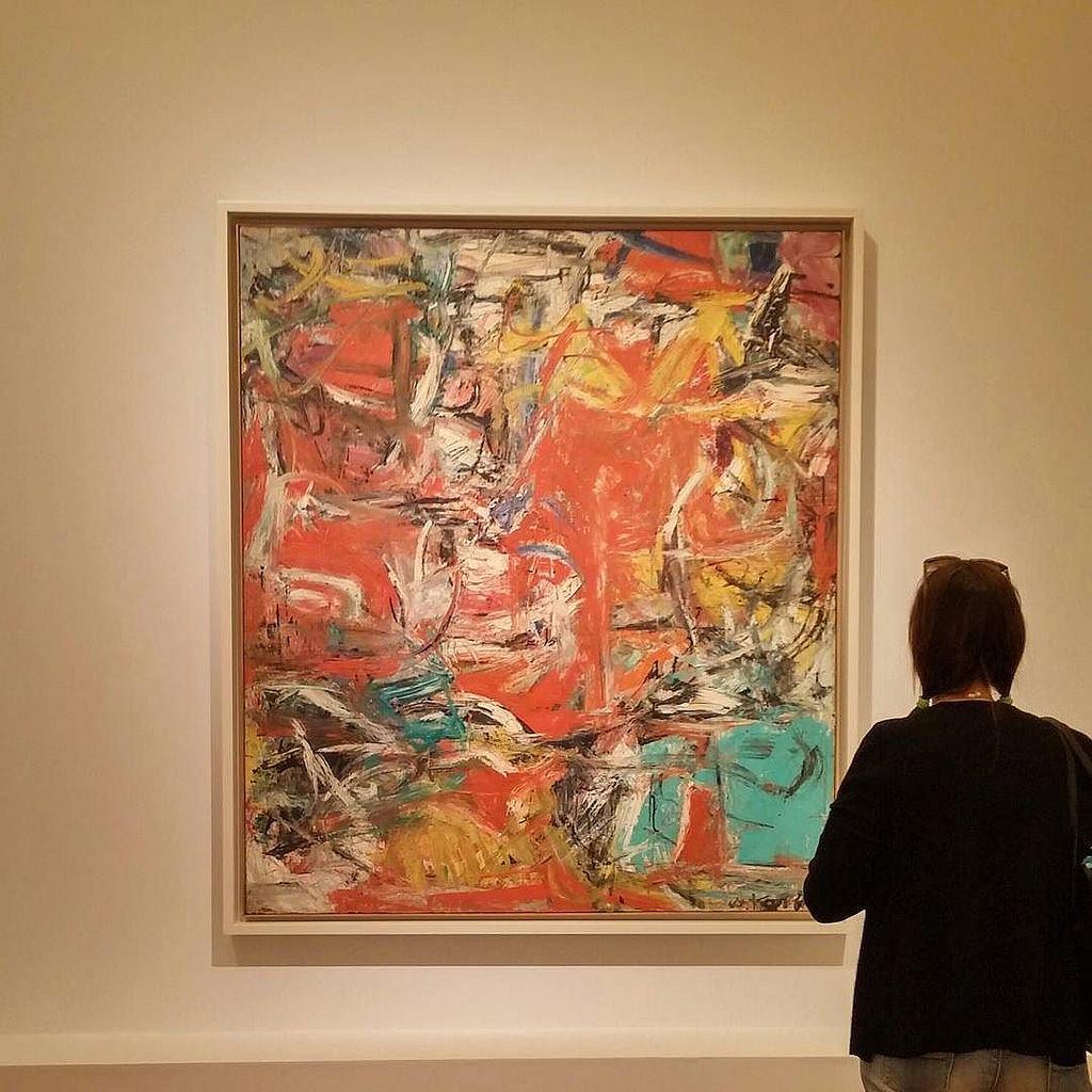 Composition, 1955. Di Willem de Kooning [Da Kandinsky a Pollock, Palazzo Strozzi]