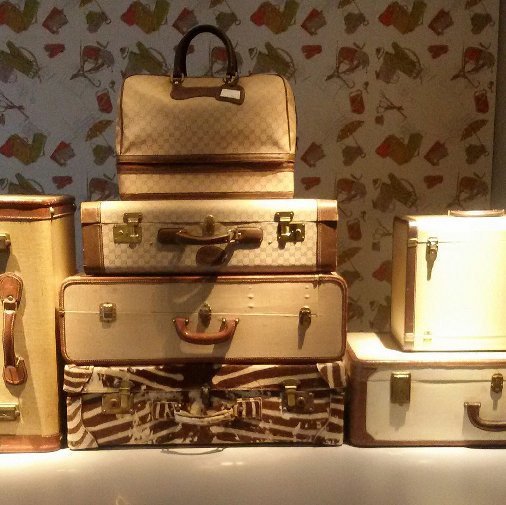 Luggages in Gucci Museum Florence